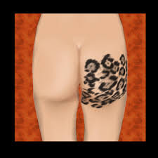 second life marketplace leopard print thigh tattoo