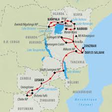 Rwanda Africa Map by African Safari Tours And Safari Holidays On The Go Tours