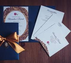 Beauty And The Beast Wedding Invitations Gorgeous Invites