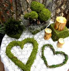 moss ribbon 4 moss balls with ribbon attached wedding balls special