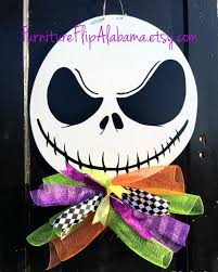halloween door hanger jack skellington wreath skeleton door hanger