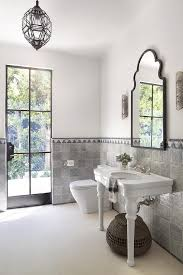 mediterranean style bathrooms white and gray moroccan style bathroom mediterranean bathroom