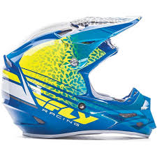 carbon fiber motocross helmet fly racing 2017 mx new f2 animal yellow blue white carbon fiber