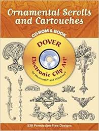 ornamental scrolls and cartouches book cd dover electronic