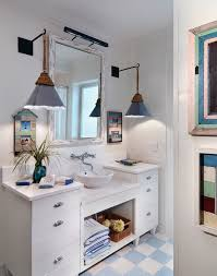 Coastal Bathroom Vanity Beach Bathroom Vanity Bathroom Beach Style With Pendant Lighting