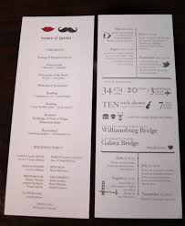 sles of wedding programs for ceremony your relationship as an infographic diy programs and invitations