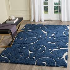 safavieh florida shag dark blue cream 5 ft 3 in x 7 ft 6 in