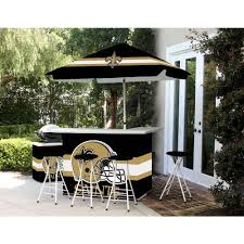 best of times new orleans saints 6 piece all weather patio bar set