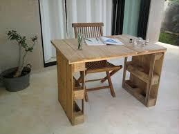 table de bureau en bois bureau en palette modèles diy et tutoriel pour le fabriquer soi même