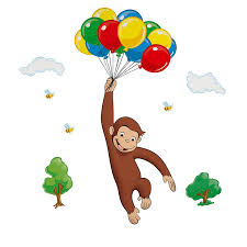 curious george nursery decor roommates children u0027s repositonable wall stickers curious george