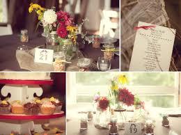 down home wedding decor details colorful wild flowers wedding