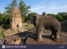 elephant statue bakong temple roluos group angkor cambodia