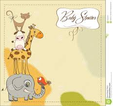 baby shower card with animals stock illustration image 23964319