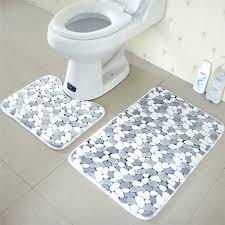 Bathroom Contour Rugs Non Slip Bathroom Floor Rug Grip Antislip Memory Foam Soft