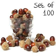 acorn vase filler 100 pieces brown assorted artificial acorn caps autumn vase
