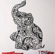 aliexpress com buy elephant indian pattern yoga cute vinyl wall