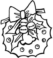 christmas wreath colouring pages google holiday scene