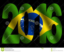 Brizil Flag 2016 Text With Brazilian Flag Editorial Photography Illustration
