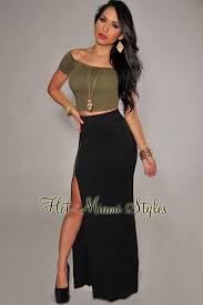 black maxi skirt with slit zipper high slit maxi skirt