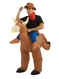 inflatable bull rider costume funny mens costumes
