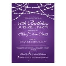 40th surprise birthday party invitations u0026 announcements zazzle