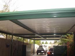 flat roof metal carport plans