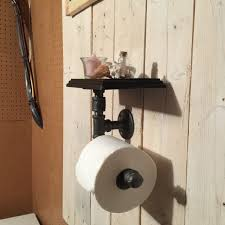 industrial pipe toilet paper holder with shelf pipeworkpieces