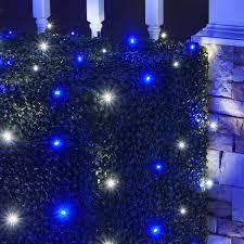 Outdoor Net Lights 4 X 6 Led Net Lights 100 Blue Cool White Ls Green Wire