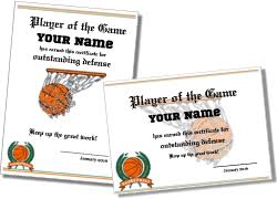 Basketball Certificates Templates Free free printable basketball certificate templates