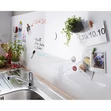 tableau magn騁ique cuisine crédence stratifié tableau blanc magnétique h 60 cm x l 240 cm