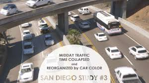 Traffic Map San Diego by Midday Traffic Time Collapsed And Reorganized By Color San Diego