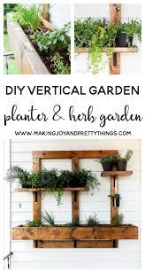 diy vertical herb garden diy vertical herb garden and planter 2x4 challenge
