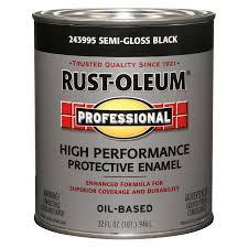shop rust oleum professional black semi gloss semi gloss enamel