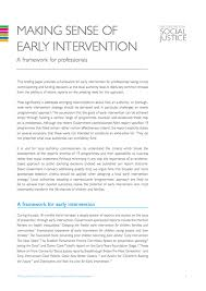 how to write a briefing paper making sense of early intervention the centre for social justice
