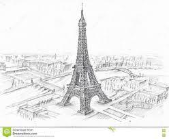 eiffel tower drawing easy roadrunnersae