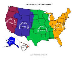 map of time zones in the usa printable mexico and central america time zone map with cities with area