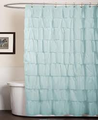 Aqua Blue Shower Curtains Lush Decor Ruffle Aqua Blue Shower Curtain Everything Turquoise