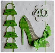 birthday cards with shoes s cards 40th birthday card for a