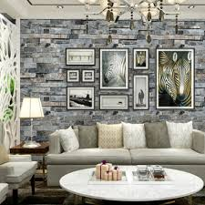 3d brick effect slate stone wallpaper wall textured vinyl tv room