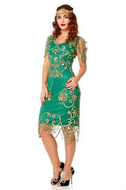 plus size rosemary emerald green dress 20s inspired flapper great