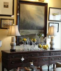 dining room sideboard decorating ideas with abstract framed art