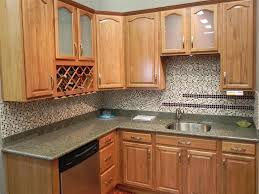 decor u0026 tips oak kitchen cabinets with wine racks and granite