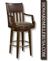cushioned bar stool 697030 howard miller rustic finish swivel bar chair