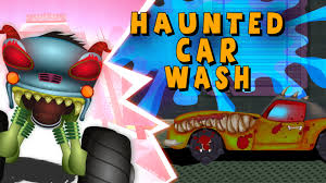 Halloween Cartoon Monsters by Haunted House Monster Truck Scary Car Wash Haunted House