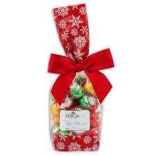 chocolate gift bag 7oz foiled santas snowmen