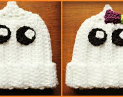 Crochet Baby Halloween Costume Baby Ghost Hat Etsy