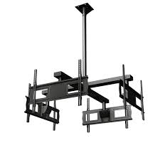 Ceiling Mounted Tv by Crimson Quad Display Universal Ceiling Mount For Four 37 63 Inch