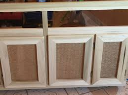 Building Kitchen Cabinet Doors Diy Cabinet Door Used Burlap And Chicken Wire For A More Rustic