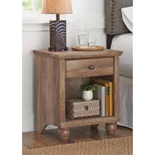 Living Room End Tables With Storage Traditional Square End Table Brown Color Solid Wood Material