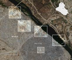Satellite Map Of Washington State by Mosul Destruction Satellite Imagery Washington Post